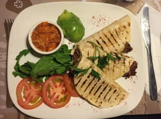 Quesadillas at Cafe 25 (it's the steak!!)